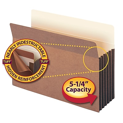 Smead TUFF Straight Cut File Pockets, 5-1/4