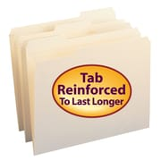 Smead® File Folder, Reinforced 1/3-Cut Tab, Letter Size, 100/Box