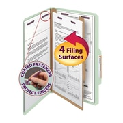 "Smead® Pressboard Classification File Folder with SafeSHIELD® Fasteners, 1 Divider, 2"" Exp., Legal, 10/Box"