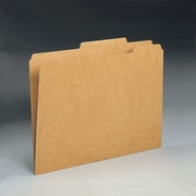 Smead® File Folder, Reinforced 2/5-Cut Tab, Guide Height, Letter Size, Kraft, 100/Box