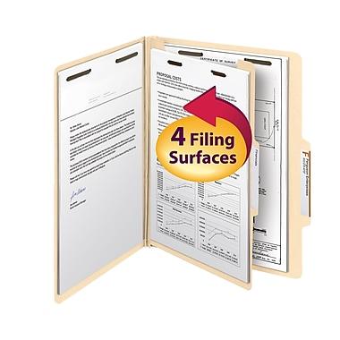 Smead® Classification File Folder, 1 Divider, 2