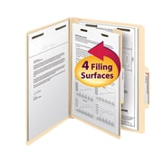 "Smead®  Classification File Folder, 1 Divider, 2"" Expansion, Letter Size, 10/Box"