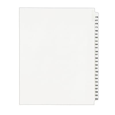 "Avery Preprinted Side Tab Dividers, Legal, Tab Titles 176-200, White, 8 1/2"" x 11"""