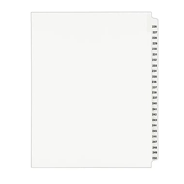 Avery Standard Collated Legal Dividers Avery Style 1339, Letter Size, 226-250 Tab Set