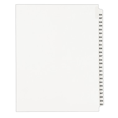Avery Standard Collated Legal Dividers Avery Style 1343, Letter Size, 326-350 Tab Set