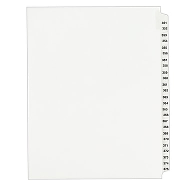 Avery Standard Collated Legal Dividers Avery Style 1344, Letter Size, 351-375 Tab Set