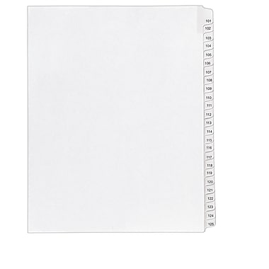 Avery(R) Collated Legal Dividers Allstate(R) Style 1705, Letter Size, 101-125 Tab Set