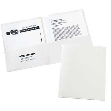 Avery Two-Pocket Folders 47991, White, Box of 25