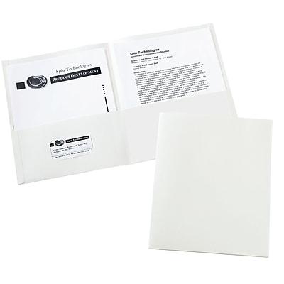Avery Two-Pocket Folders 47991, White, Box of 25
