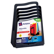 Avery(R) Adjustable File Rack 73523, Black, Five Slots