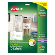 "Easy Align(TM) Self-Laminating ID Labels, 00756, 3-5/16"" x 2-5/16"", Pack of 100"