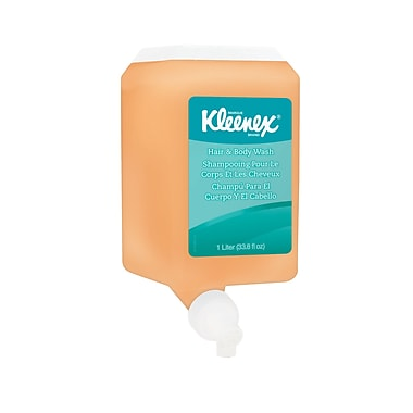 Kleenex® Hair & Body Wash, 1000 mL, Cassette 6/Pack