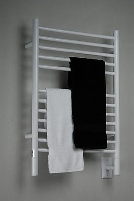 Amba Jeeves Wall Mount Electric E Straight Towel Warmer; White