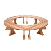 All Things Cedar Round Wood Tree Bench