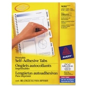 "Avery® 1-3/4"" White Printable Self-Adhesive Tabs"