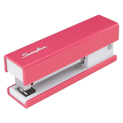 Swingline® Half Strip Fashion Stapler, Fastening Capacity 20 Sheets/20 lb., Pink (S7087822)