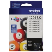 Brother LC201 High Yield Ink Cartridge, Black (LC201BKS)