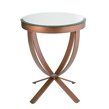 BH Boutique Hotel – Table d'appoint à plateau miroir, base en cuivre brossé
