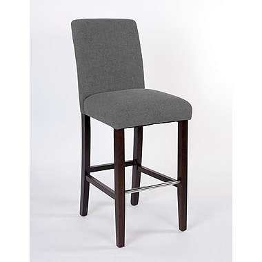JR Home Collection IF-BR257-GY2PK Harper Fabric Bar Stool, Grey, 2/Pack