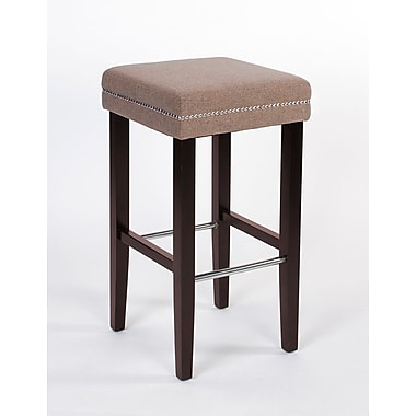 JR Home Collection IF-ST-258-BG2PK Sawyer Fabric Counter Stool, Beige, 2/Pack