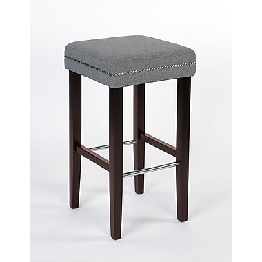 JR Home Collection IF-ST-258-GY2PK Sawyer Fabric Counter Stool, Grey, 2/Pack