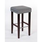 JR Home Collection – Tabouret de comptoir en tissu Sawyer IF-ST-258-GY2PK, gris, 2/paquet
