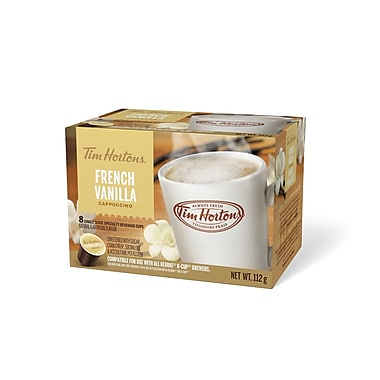 Tim Hortons French Vanilla Cappuccino Single Serve, 8/Pack