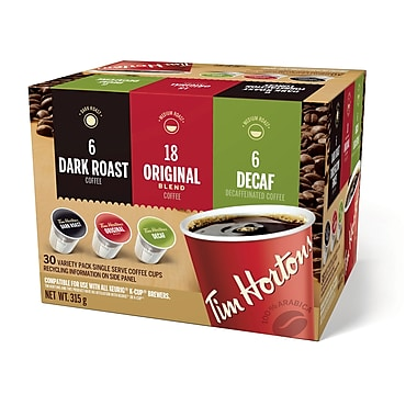 Tim Hortons Single Serve Coffee Cups, 30/Pack