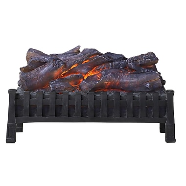 Flamelux SLG23 Electric Crackling Log Set, Black