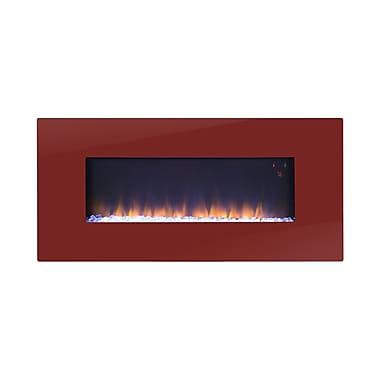 Flamelux – Foyer électrique mural Paris, 41 po haut., rouge