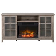 """Flamelux Provence 60"""" Wide Media Fireplace, Reclaimed Wood"""