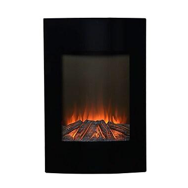 Flamelux – Foyer électrique mural Alps, 35 po haut., noir