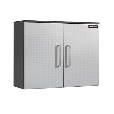 Black & Decker® 2-Door Wall Cabinet, Charcoal Stipple