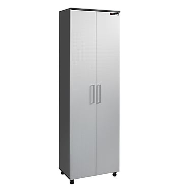 Black & Decker® Narrow 2-Door Storage Cabinet, Charcoal Stipple