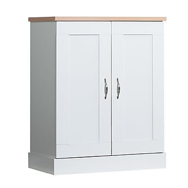 akadaHOME Kitchen 2-Door Base Pantry with Pull Out Drawers, White