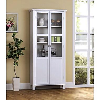 Homestar 2-Door Storage Cabinet, White