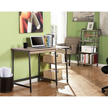 Homestar 2-PC Laptop Desk/4-Shelf Bookcase Set, Reclaimed Wood