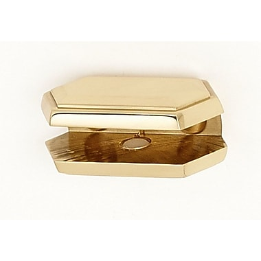 Alno Nicole Shelf Brackets Only; Polished Brass