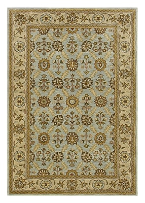 Dynamic Rugs Charisma Blue / Ivory Area Rug; Rectangle 5' x 8'