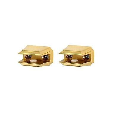 Alno Geometric Shelf Brackets Only; Polished Brass