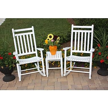 Dixie Seating 3 Piece Conversation Set; White