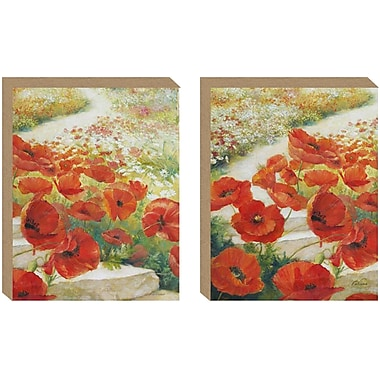 NielsenBainbridge Pinnacle Path of Poppies 2 Piece Painting Print on Canvas Set
