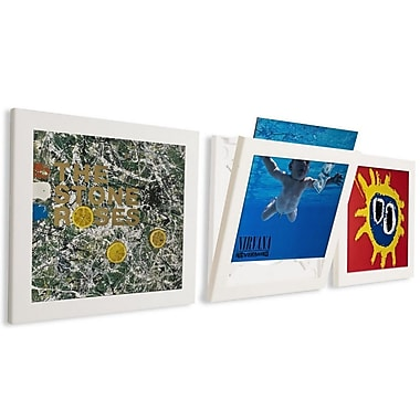 NielsenBainbridge Pinnacle 3 Piece Record Picture Frame Set; White