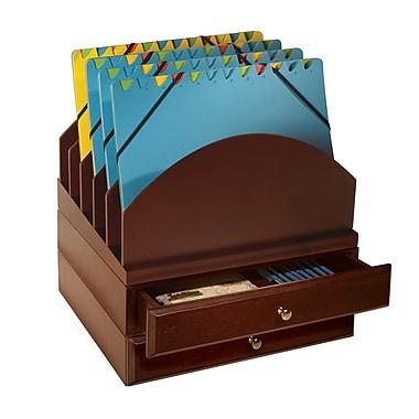 Bindertek – Ensemble multimédia empilable en bois pour organisation de bureau, dossier/2 tiroirs