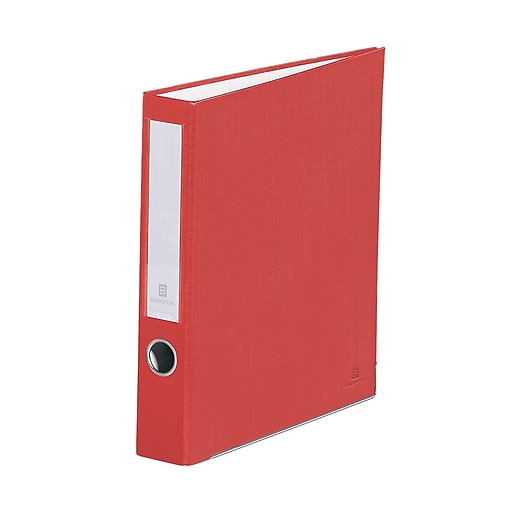 Bindertek 3-Ring 2-Inch Premium Binders, Red (3SLN-RD