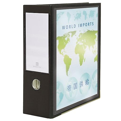 bindertek 3 ring 4 inch premium view binders black 3xlvbn bk