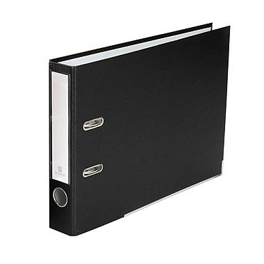 Bindertek 2-Ring 2-Inch Premium Top File Binders, For Top-Punched Paper, Black (TFSLN-BK)