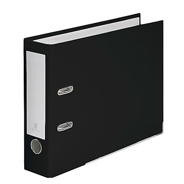Bindertek – Cartables à 2 anneaux Top File de 3 po pour papier perforé du haut, noir (TFN-BK)