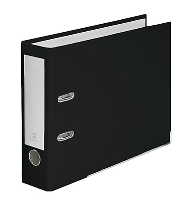 Bindertek 2-Ring 3-Inch Premium Top File Binders, For Top-Punched Paper, Black (TFN-BK)