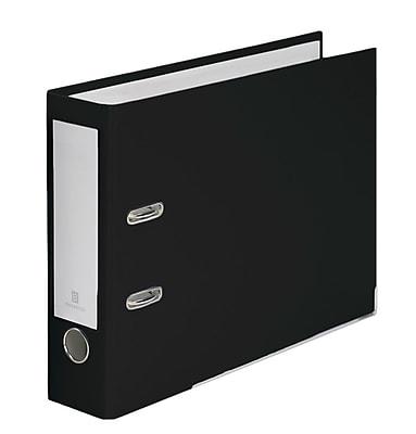 Bindertek 2-Ring 3-Inch Premium Top File Binders, For Top-Punched Paper, Black (TFN-BK)